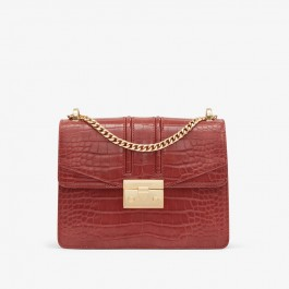 Charles Keith Chain Flap Shoulder Bag Clay