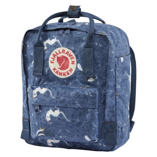 Fjallraven Kanken Art Mini Blue Fable Backpacks
