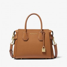 Michael Kors Mercer Small Pebbled Leather Belted Satchel