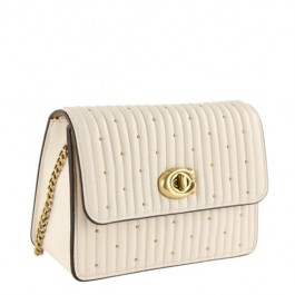 Bowery Mini with Rivets Chalk White Leather Cross Body Bag